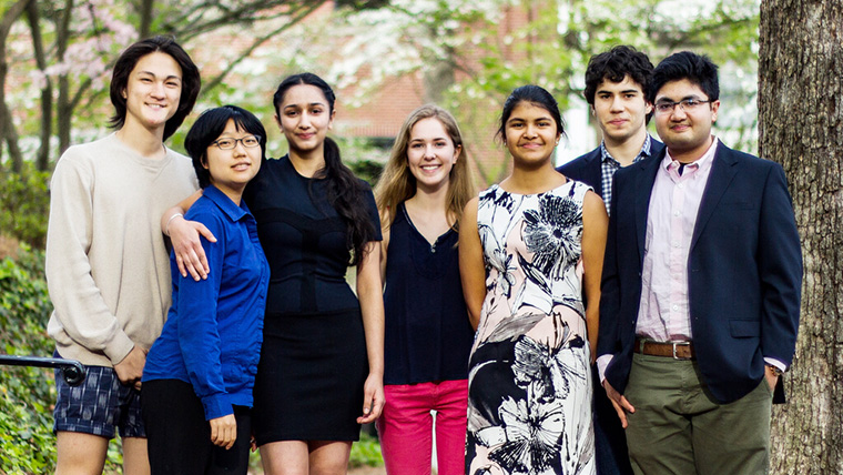 Team FullCircle: (from left( Kenji Bomar, Heyinn Rho, Ananya Jain, Savannah Berry, Sara Thomas Mathew, José Andrade, and Anmbus Iqbal