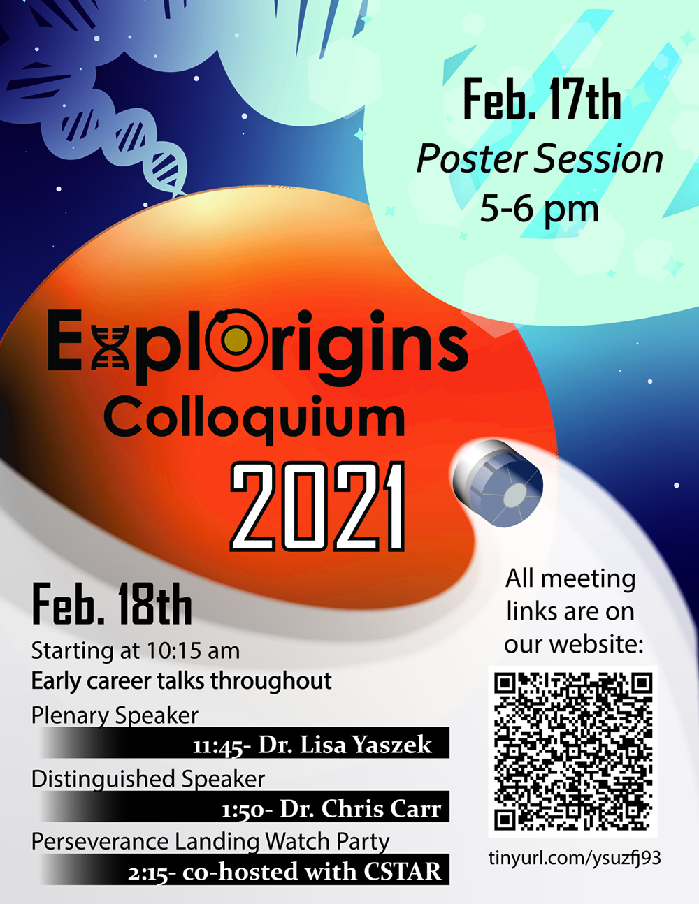 ExplOrigins Colloquium 2021 - Space Science Week at Tech