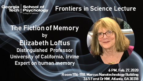 Frontiers in Science Lecture by Elizabeth Loftus