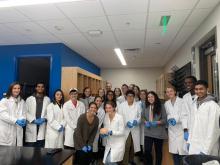 Georgia Tech's Neuroscience Club in Adam Decker's anatomy class. (photo taken pre-Covid)