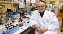 Al Merrill in lab