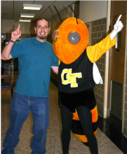 Prof. Goodisman with Buzz