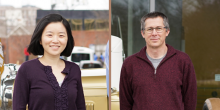 Kimberly Chen (left) and Matthew Herron (Credit: Jennifer Pentz)