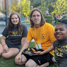 Explore students hanging out on West Campus