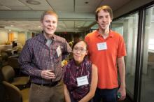 From left: Lutz Warnke, Jennifer Homs, and Christopher Jankowski