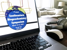 Georgia Tech faculty and students successfully hosted the 7th Annual Southeastern Biogeochemistry Symposium online, the weekend of March 14-15, 2020 (Photo: Jess Hunt-Ralston).
